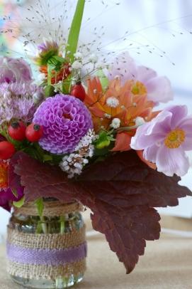 P1070646 - mariage Caroline bouquet pourpre rose